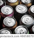 aluminum cans of soda background  46658070