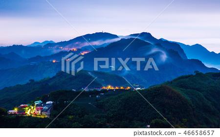 阿里山頂石槕雲海Asia, Taiwan, Alishan Cloud 46658657