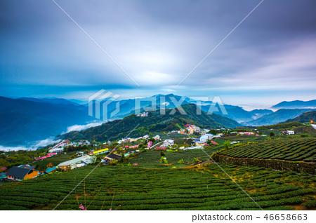 阿里山頂石槕雲海Asia, Taiwan, Alishan Cloud 46658663