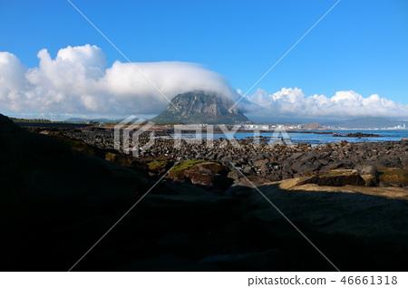 산방산,구름,해안,반영  46661318