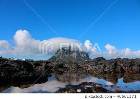산방산,구름,해안,반영  46661371