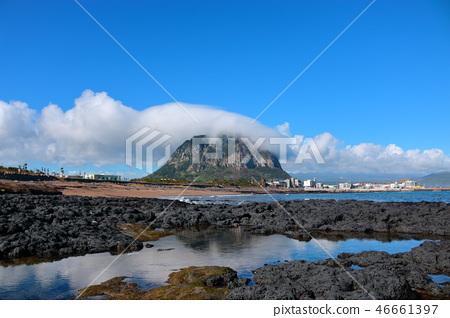 산방산,구름,해안,반영  46661397