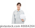 Young woman work clothes 46664264