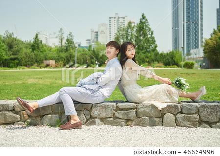 신혼, 부부, 웨딩, 야외, 프리웨딩, 스몰웨딩, 결혼 46664996