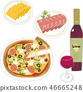 Wine and hors d'oeuvres 46665248