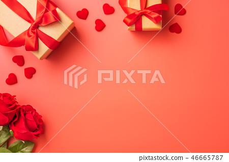 情人節 白色情人節 禮物 緞帶 玫瑰 Pantone 2019 代表色 living coral 46665787