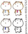 폿하는 넥타이 고양이 팬시 일러스트 46667262