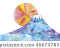 富士山 堆 许多 46674783