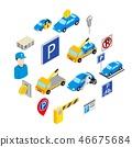 Parking set icons 46675684