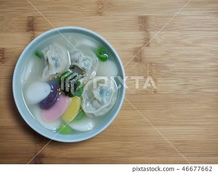 한국의 음식 떡 만두국 46677662