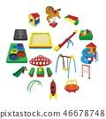 Playground cartoon icons 46678748