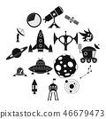 space,icon,set 46679473
