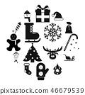 16,christmas,icons 46679539