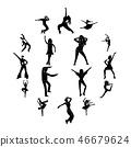 Dances simple icons set 46679624