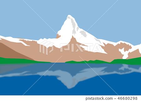 Matterhorn illustration 46680298