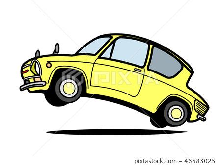減速火箭的輕的汽車跳淡黃色汽車例證 46683025