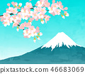 Cherry background background illustration 46683069
