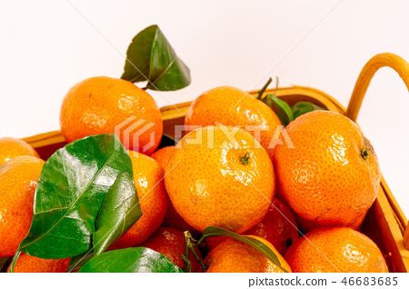 Fresh granulated tangerine 46683685