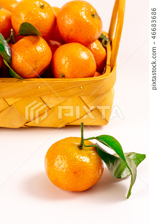 Fresh granulated tangerine 46683686
