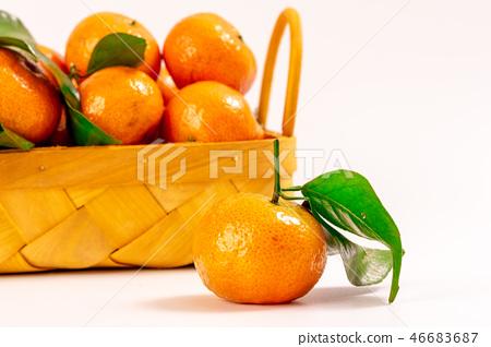 Fresh granulated tangerine 46683687