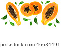 papaya yellow fruit 46684491