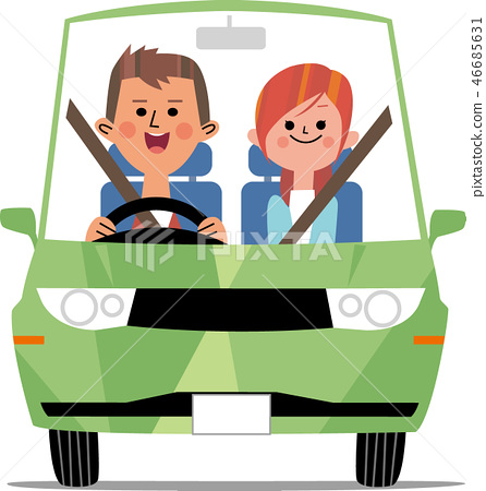 Drive date with green car 46685631