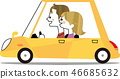 Driving date with yellow car (horizontal angle) 46685632