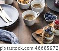 breakfast, coffee, yogurt 46685972