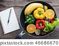 fresh vegetables and fruits for fitness dinner 46686670