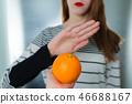 Citrus fruit allergy concept - food intolerance 46688167