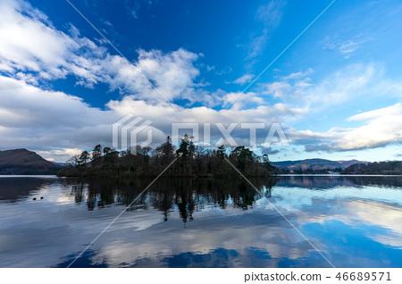 영국 잉글랜드의 호수 지방의 더 웬트 호수 46689571