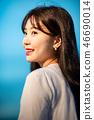 여성, 여자, 여대생, 노을, 석양 , 햇살, 해질녘, 나들이,  46690014