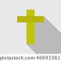 religious cross icon 46693361
