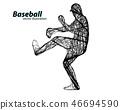 vector, icon, baseball 46694590