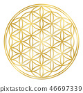 Golden Flower Of Life 46697339