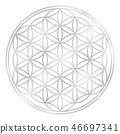 Silver Flower Of Life 46697341