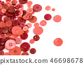 Scattered buttons coral color isolated on white. 46698678