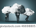 Business group with cloud and brainstorm concepts 46698805