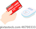 Electronic money credit card electronic payment illustration 46700333