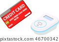 Electronic money credit card electronic payment illustration 46700342