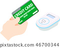 Electronic money credit card electronic payment illustration 46700344