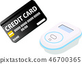 Electronic money credit card electronic payment illustration 46700365
