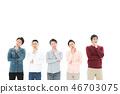 ชุดลำลองสำหรับบุรุษหลายแขนคิด 20s-40s 46703075