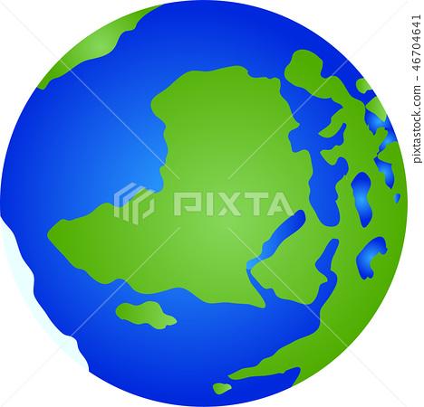 지구 아이콘 세계지도 지구본 그림 46704641