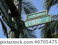 夏威夷Kuhio路标 46705475