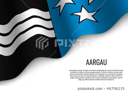 waving flag of region Switzerland 46706235