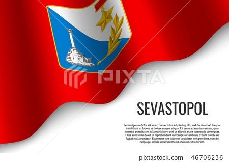 waving flag on transparent background 46706236