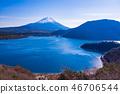 (Yamanashi Prefecture) Mt. Fuji seen from Nakanokura Point of the Lake Honjo 46706544