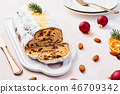 Christmas Stollen cake with icing sugar 46709342