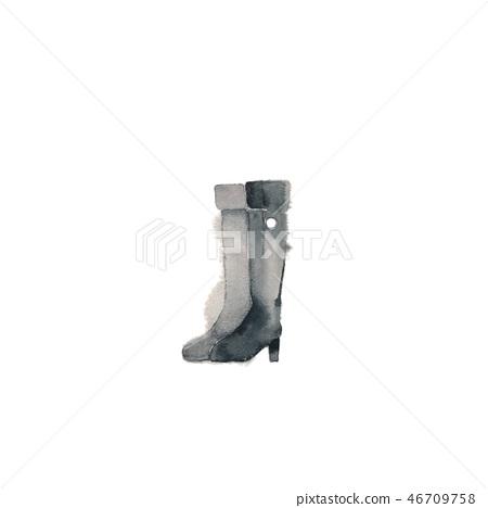 Long boots, black 46709758